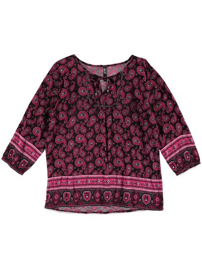 Plus Border Print Gypsy Womens