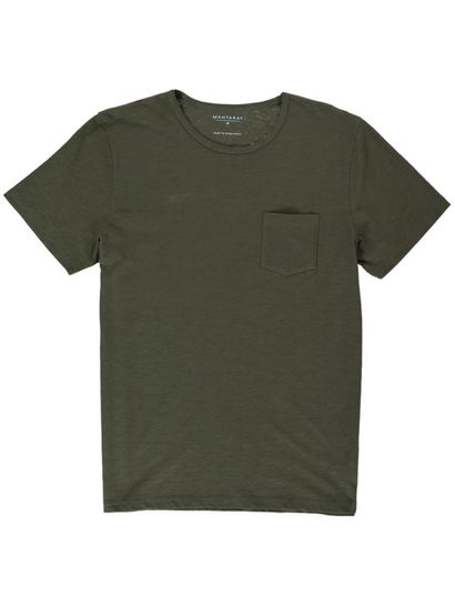 Mens Ss Slub Tee With Chest Pocket