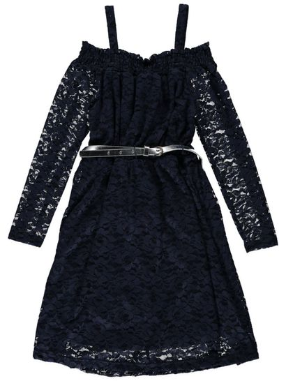 Girls Long Sleeve Lace Dress