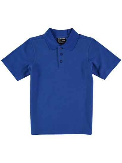 ROYAL BLUE KIDS TEFLON PROTECTED COTTON POLO