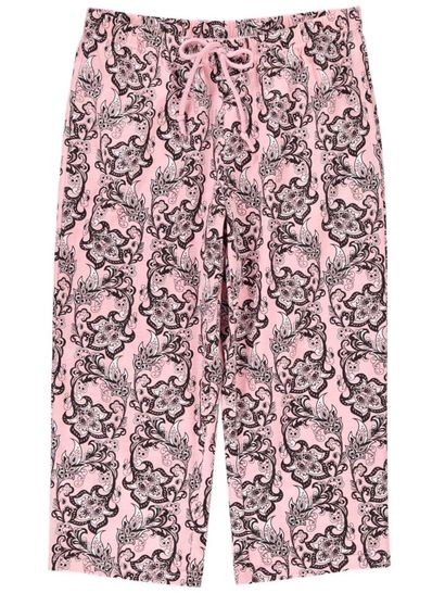 Jersey Cropped Pant Womens Sleepwear