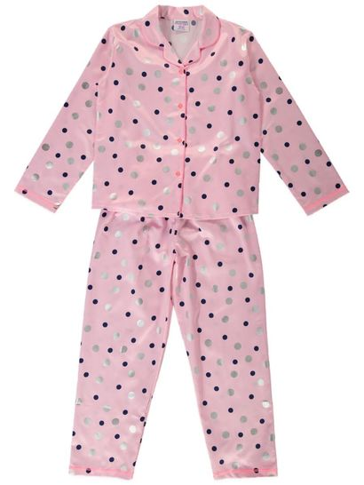 Girls Cotton Sateen Pyjama