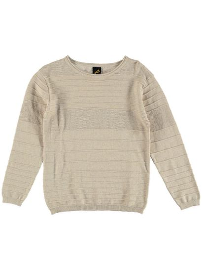 Boys Textured Knitwear Sweater