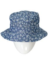 GIRL DENIM FLORAL HAT