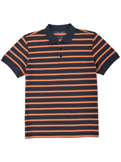 MENS SHORT SLEEVE STRIP POLO
