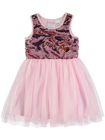 TODDLER GIRLS FLIP SEQUINS TULLE DRESS