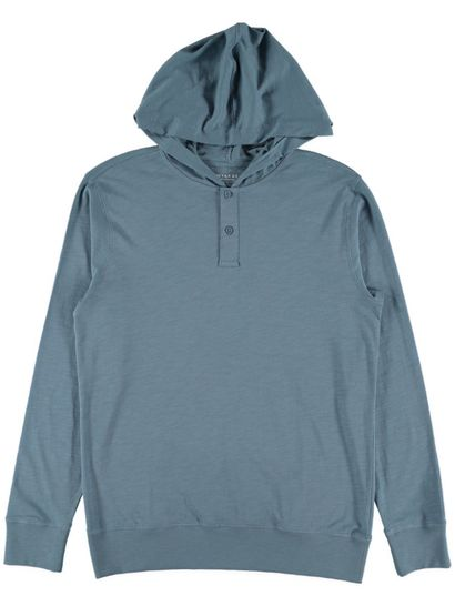 Mens Long Sleeve Hooded Tee