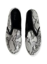 LDS SHOE SLIPON IN SNAKE PRINT