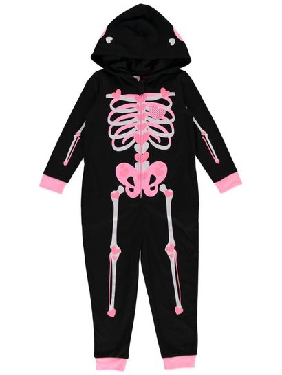 Girls Skeleton Knit Onesie