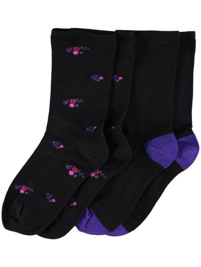 All Day Fine 2Pk Socks Underworks