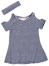 TODDLER GIRLS STRIPE KNIT DRESS