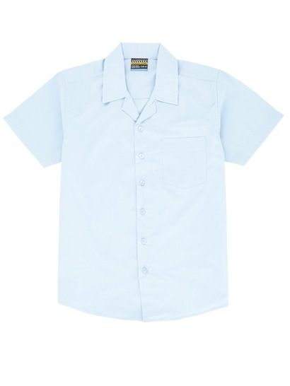 SKY BLUE BOYS SHORT SLEEVE LAY BACK SHIRT