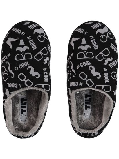 Boy Print Scuff Slipper