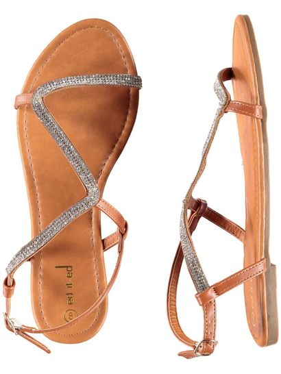 Womens Emblished Strap Sandal