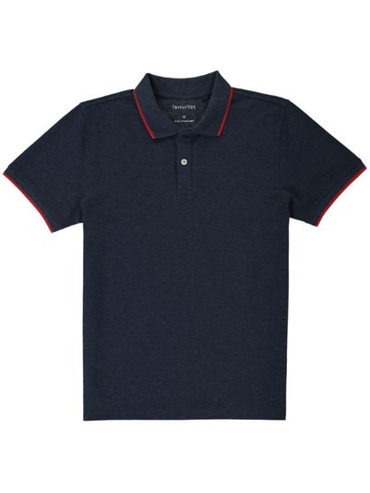 Mens Basic Polo With Tipping
