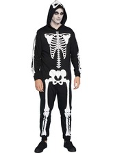 MENS SKELETON ONESIE