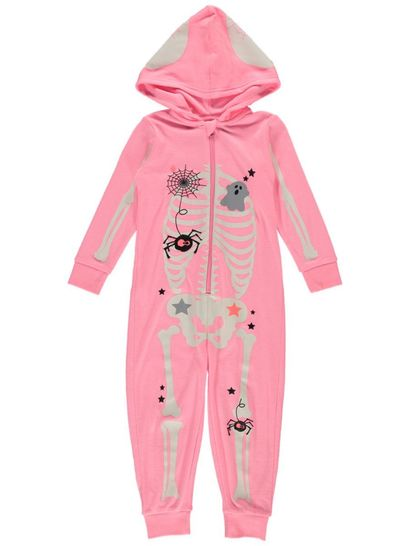 Girls Skeleton Onesie