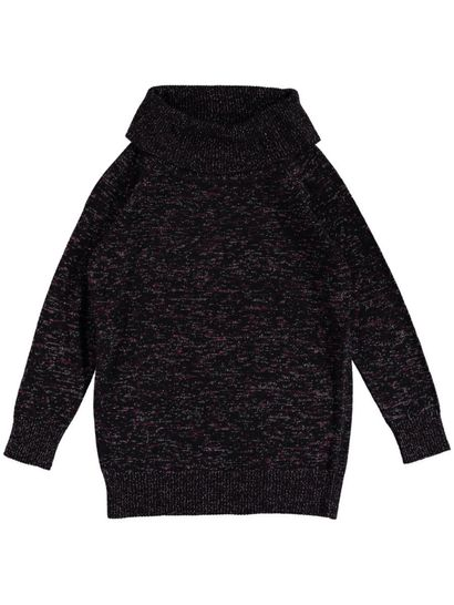 Plus Roll Neck Lurex Pullover Womens