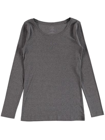 WOMENS PLUS ORGANIC COTTON LONG SLEEVE TEE
