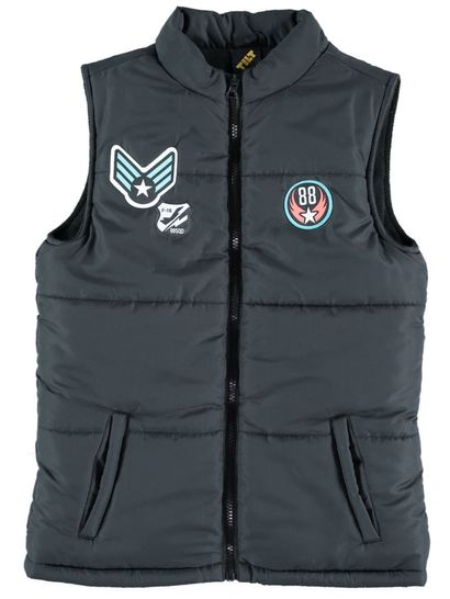 Boys Badge Puffer Vest