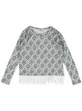 GIRLS PRINT KNIT TOP