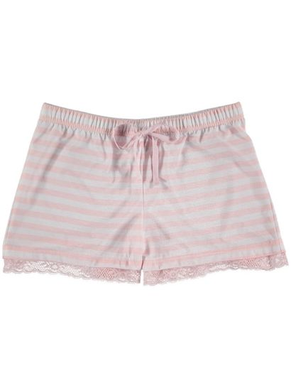 Jersey Short With Lace Trim