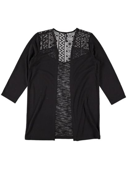 Womens Lace Cardi Long