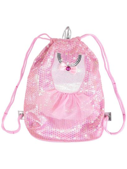 Girls Ballerina Drawstring Bag