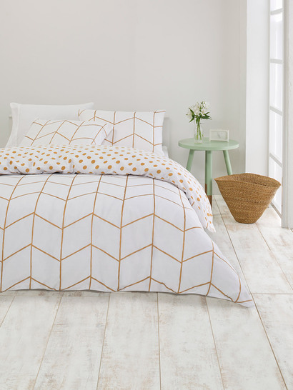 Queen Bed Foil Printed Quilt Cover Set