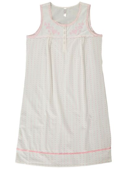 Sleeveless Traditional Nightie Cotton