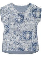 Tile Woven Front Tee Womens
