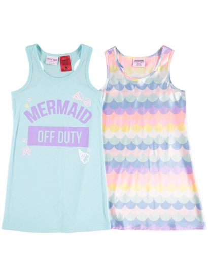 Girls 2-Pack Mermaid Nightie