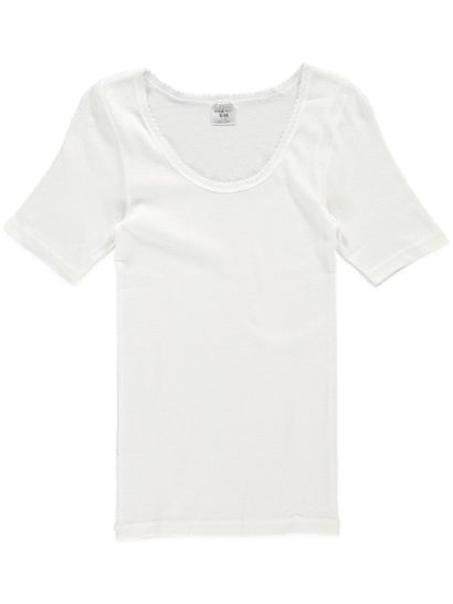 Thermal Short Sleeve Top Pointelle Womens
