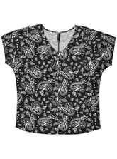 Plus Extended Slv Paisley Tee Womens