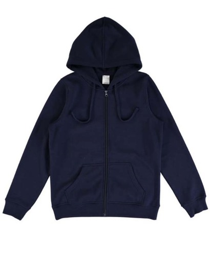 Basic Fleece Zip Hoodie Womens