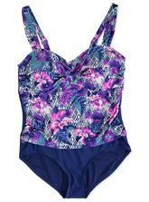 PLUS PRINTED ONE PIECE SWIMSUIT WOMENS