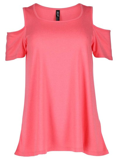 Plus Cold Shoulder Tee Womens