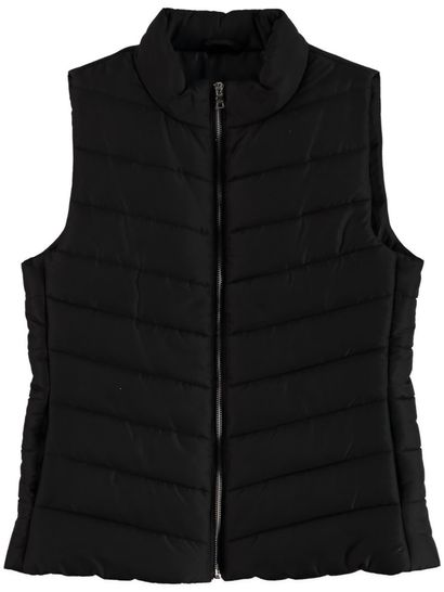 Plus Chevron Puffa Vest Womens