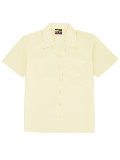LIGHT YELLOW GIRLS SHORT SLEEVE BLOUSE