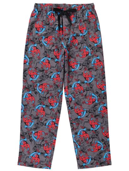 Mens Spiderman Flannelette Lounge Pants
