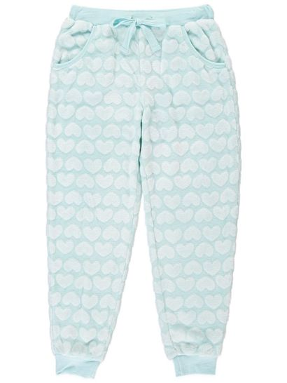 Girls Coral Fleece Jacquard Sleep Pants