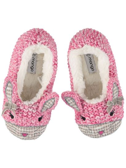 Girls Knit Rabbit Slipper