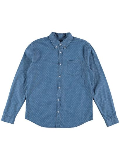Mens Printed Denim Shirt
