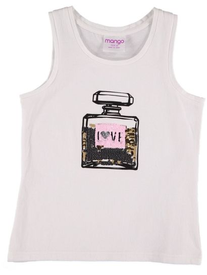 Girls Perfume Sequin Tank