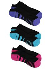 NO SHOW 3PK SPORT SOCKS UNDERWORKS WOMENS