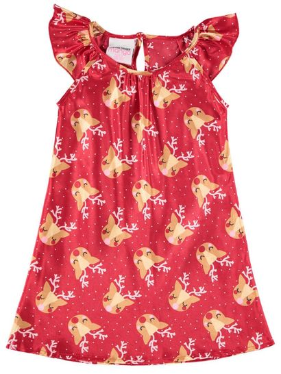 Girls Christmas Satin Nightie