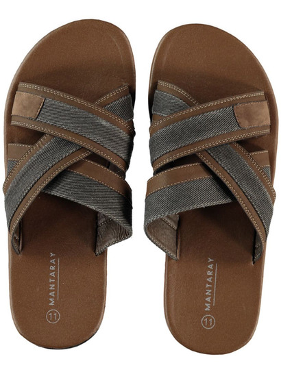 MEN BROWN SLIDE