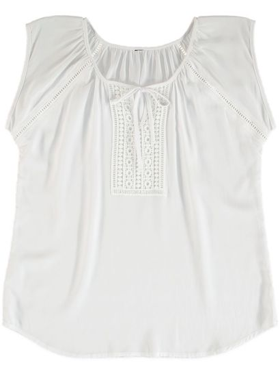 Lace Neck Tank Womens
