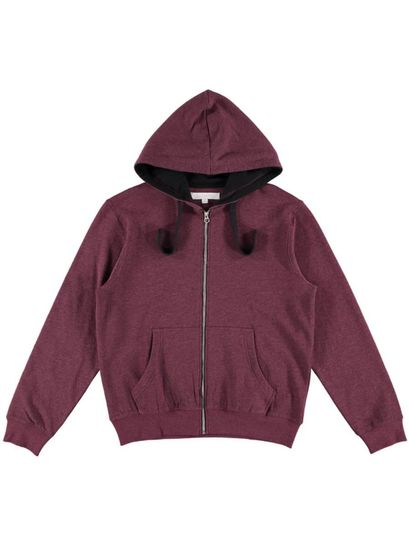 Mens Zip Through Hood Top