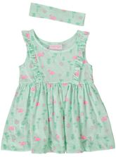 TODDLER GIRLS PRINTED KNIT DRESS